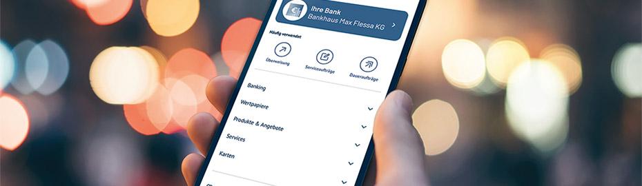 MyBankingApp, die mobile FLESSABANK-App. Ihre Finanzen im Blick – jederzeit und überall!